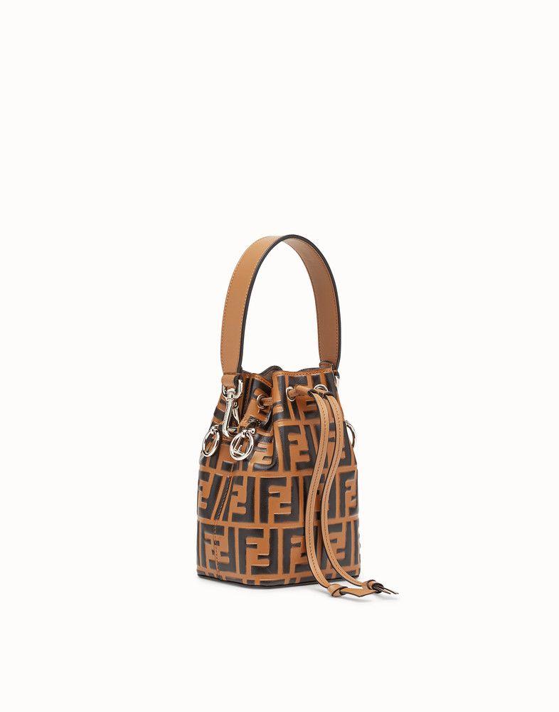 6140af28f99 FENDI MON TRESOR - Brown leather mini-bag - view 2 detail   Bags ...