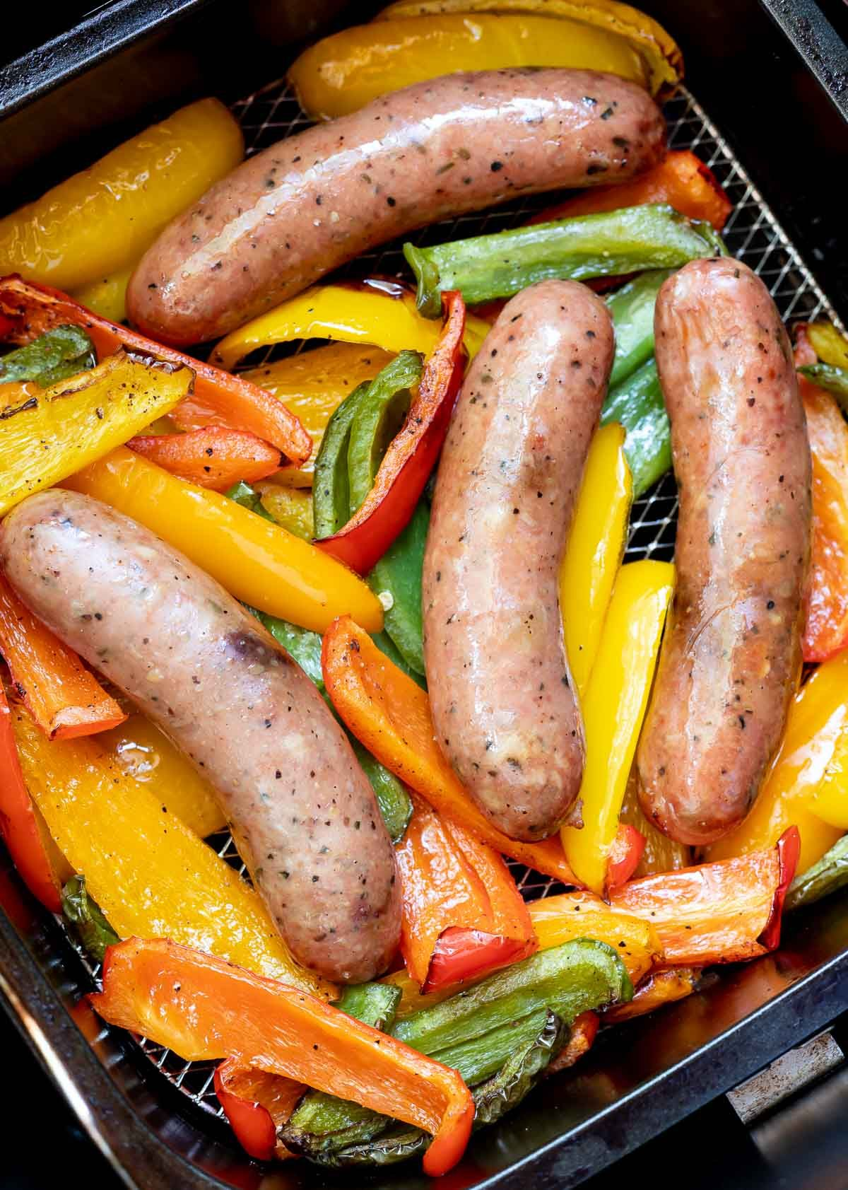 Air Fryer Sausage and Peppers Recipe (With images