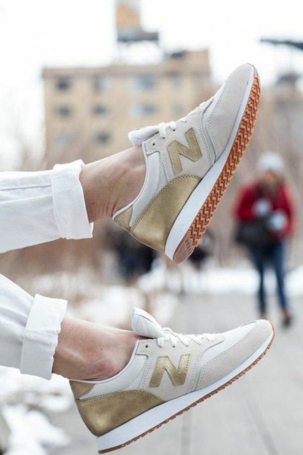 basket femme new balance beige