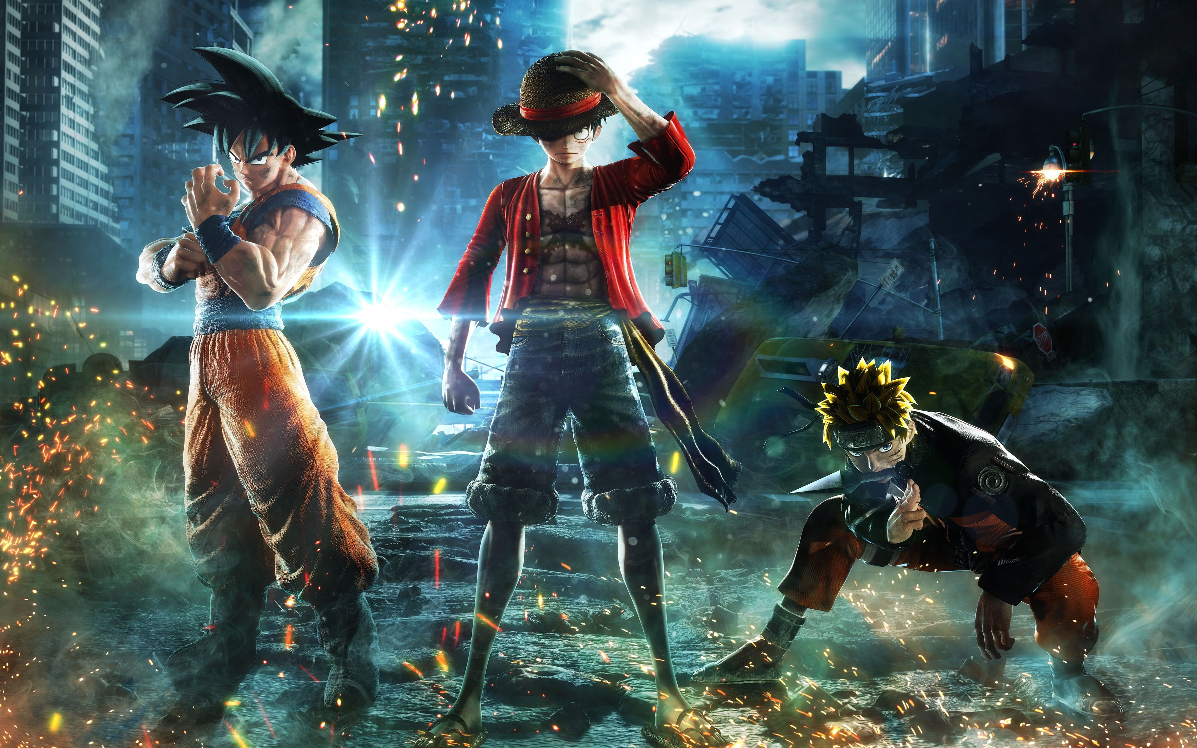Jump Force Goku Naruto Luffy 4k 8k Goku Jump Force Naruto