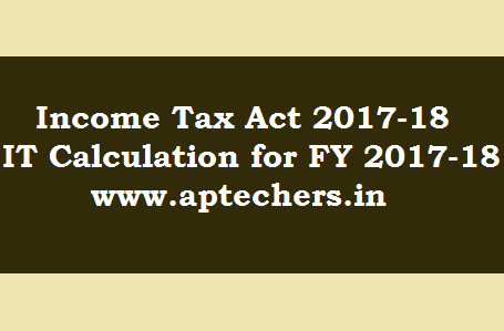Income Tax Act And Income Tax Calculation For  For Ay