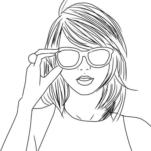 Outline Taylor Swift With Images Taylor Swift Drawing Taylor