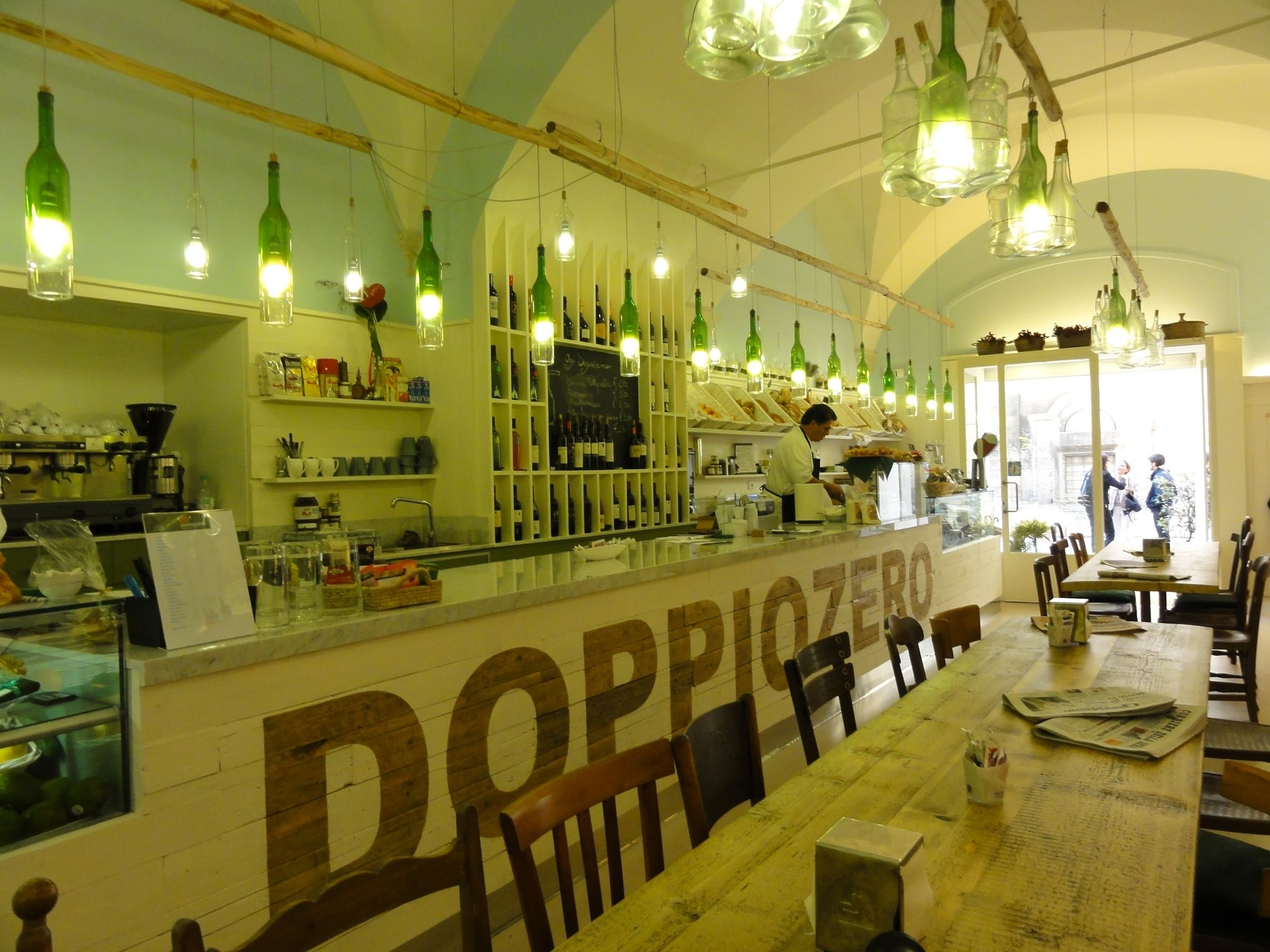 Doppiozero Lecce, Italy. Our favorite place for a snack or light meal.