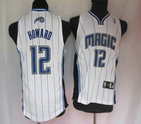Basketball Kids jerseys Orlando Magic 12 Howard white strip  d9262e958