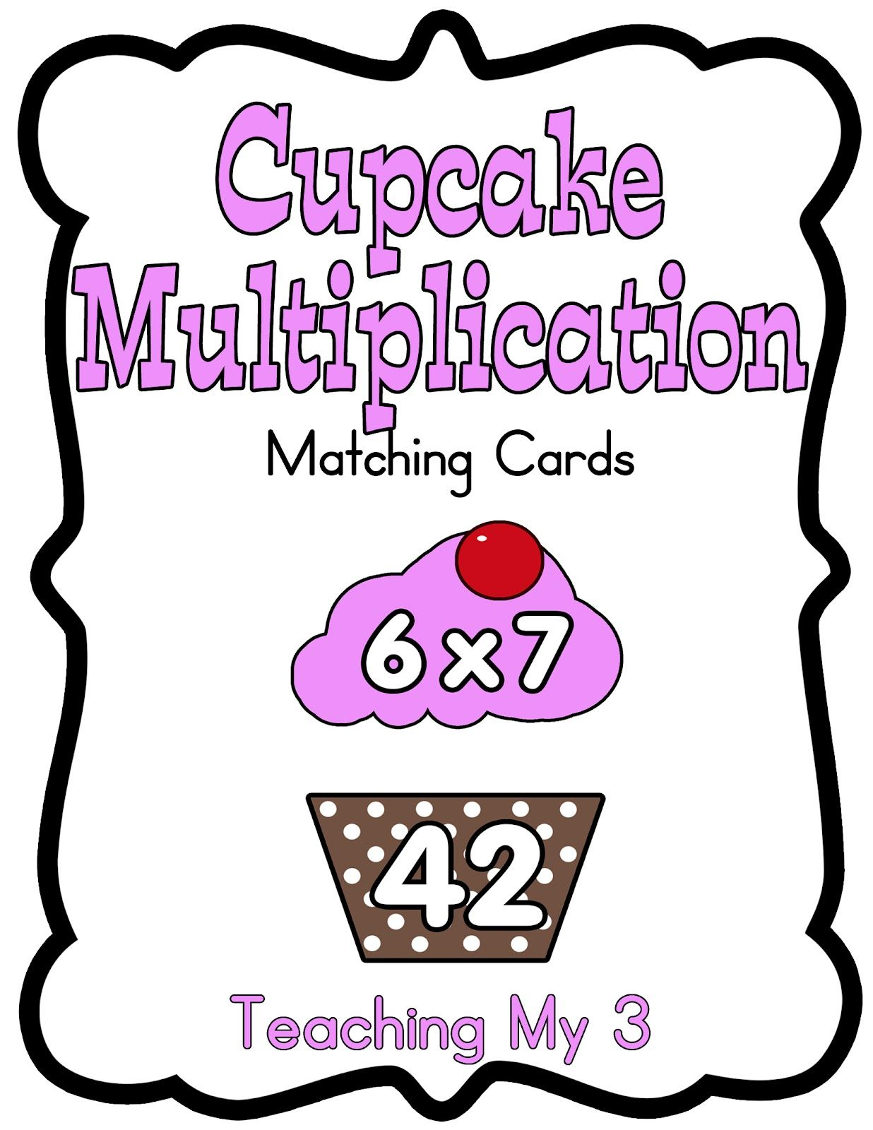 Freebie Friday! Cupcake Multiplication Cards