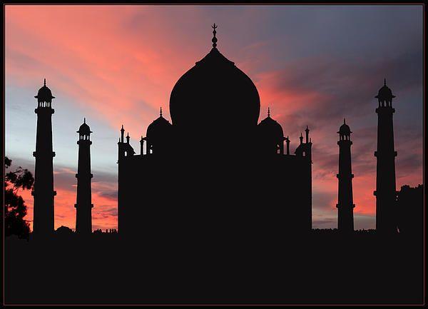 Taj Mahal Silhouette Homecoming Around The World Flight
