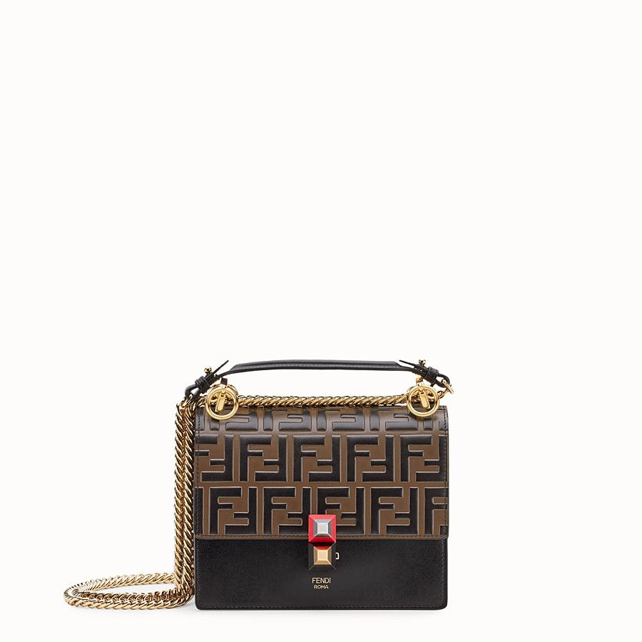 0bbcce5aea FENDI KAN I SMALL - Black leather mini-bag - view 1 detail Luxury Bags