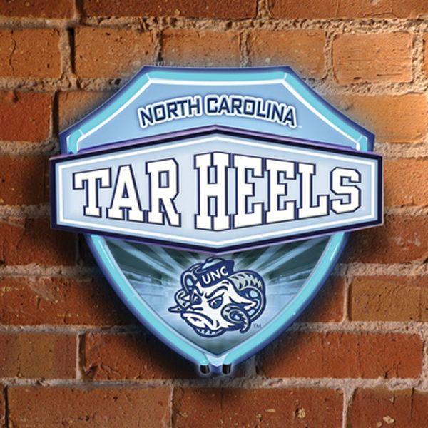North Carolina Tar Heels Neon Shield Wall Lamp Tar Heels