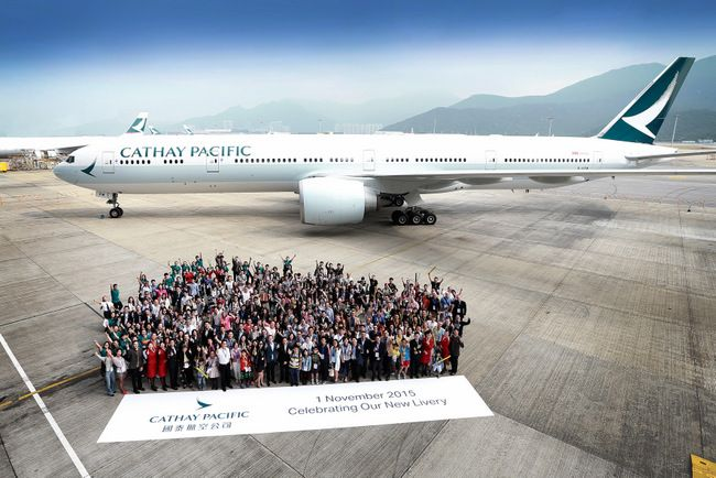 Guests in HKIA at the new Cathay Pacific new Livery unveil