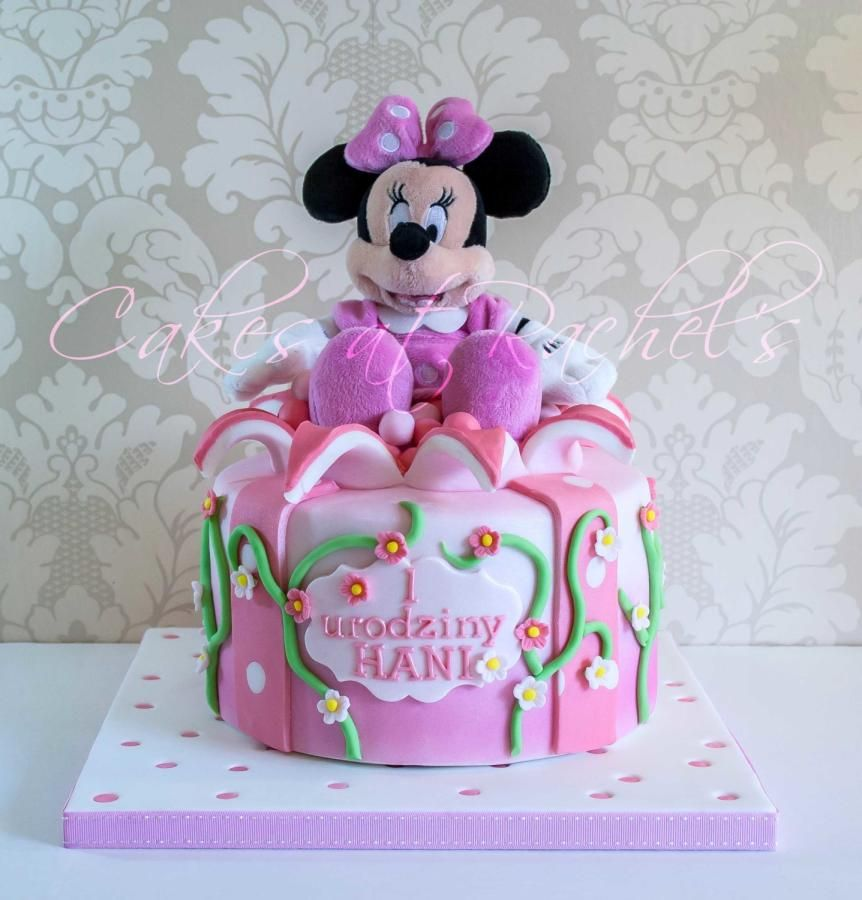 Minnie Mouse 1st Birthday Cake Cakesatrachels Cakes At