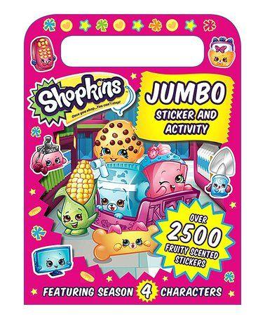 Loving This Shopkins Jumbo Sticker Activity Book On Zulily Zulilyfinds Shopkins Shopkins Party Reward Stickers