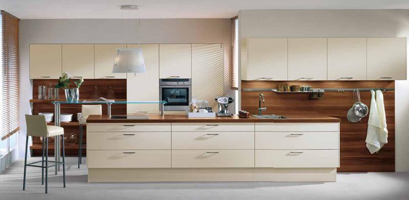 Resultado de imagen para cocinas integrales blancas con - Cocinas con azulejos beige ...