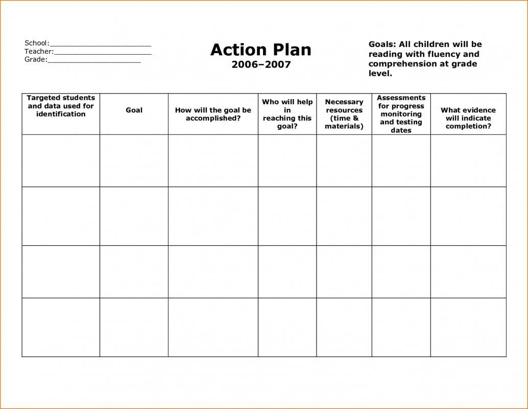 Plan Of Action Template Action plan template, Simple