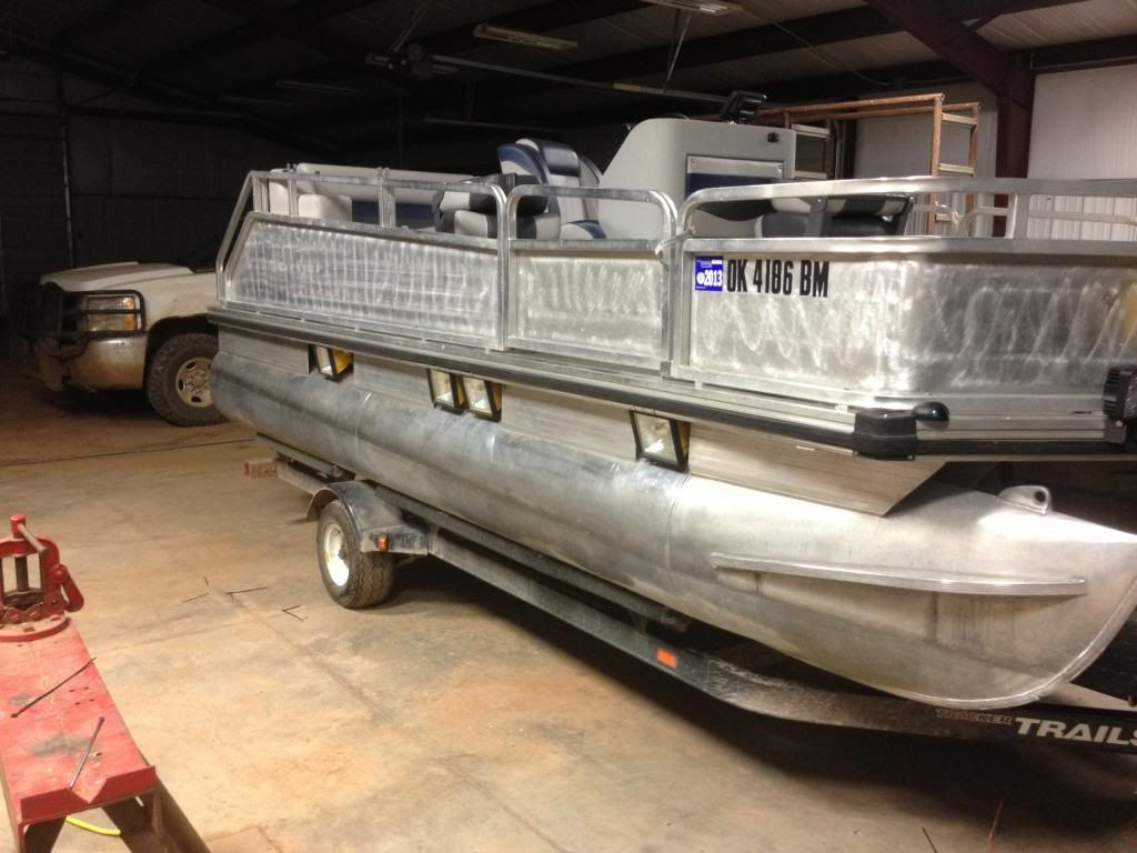 1996 Tracker Rebuild For Bowfishing Rig Bowfishing Pontoon Boat Pontoon