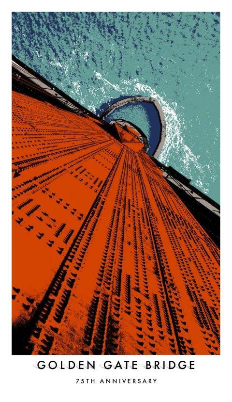 Golden Gate Bridge's 75th poster