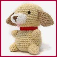 Mini perro amigurumi