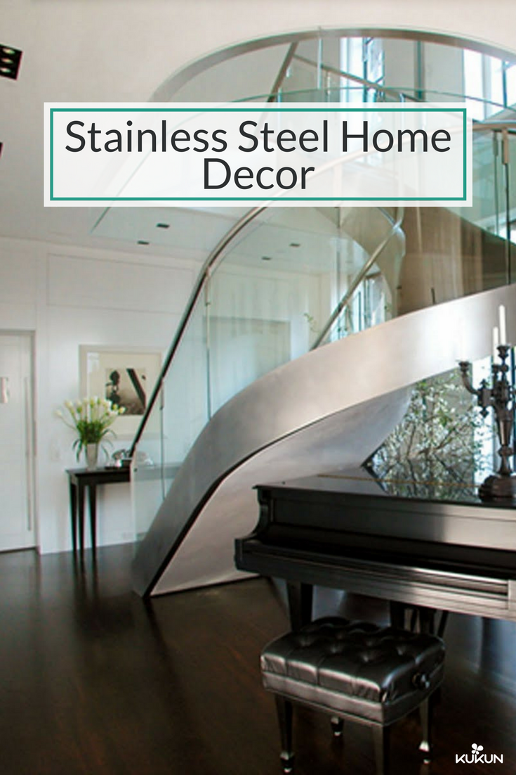 The Versatile Look Of Decorative Interior Panels And Glossy Finishing Can Completely Transform Your Home Stainless Steel Staircase Modern