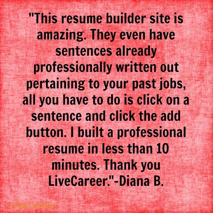 job resume in a sentence