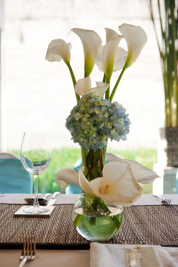 Flores para un centro de mesa para boda centros mesa for Adornos para bodas con plantas