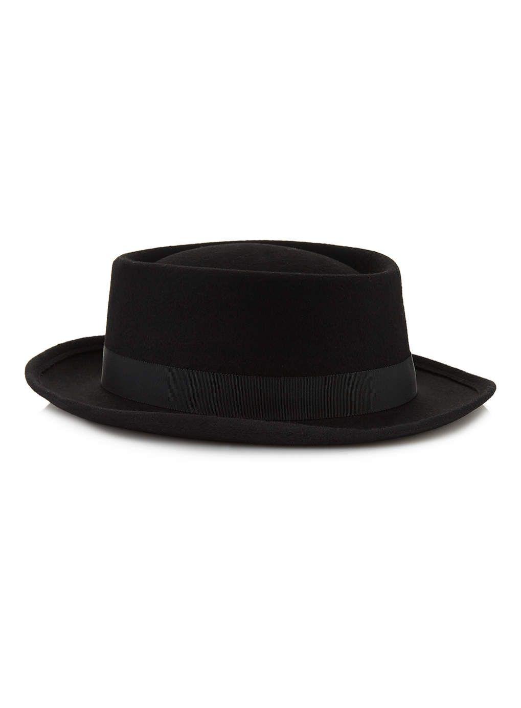Topman - Black Wool Pork Pie Hat £20  8ddf59ecc65
