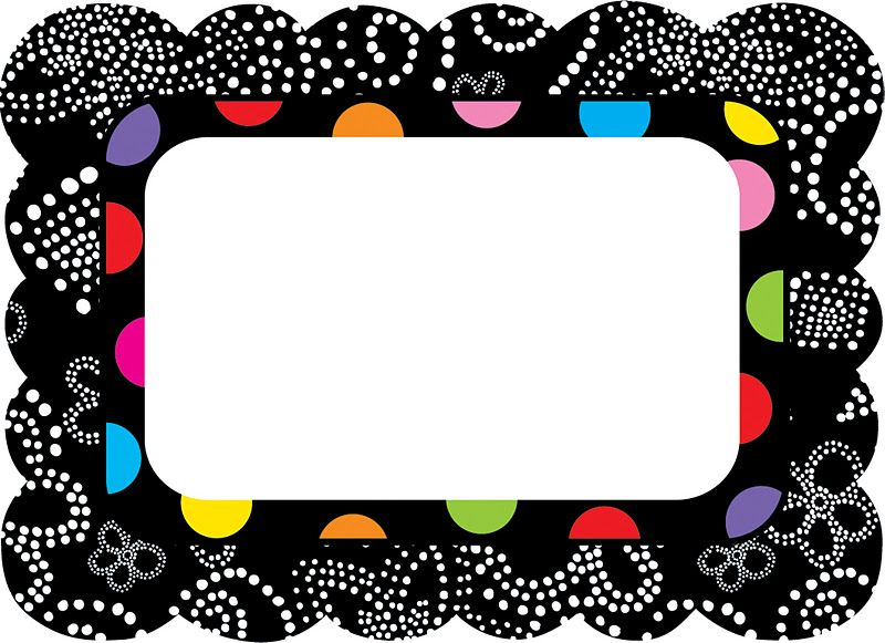 Polka Dot Label Templates Free | Colorful Bw Name Tags Come In Two Styles  And Are  Name Labels Templates Free