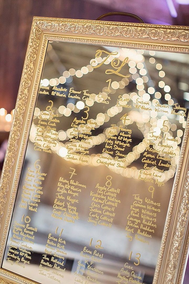 10 Fabulous mirror wedding table plans