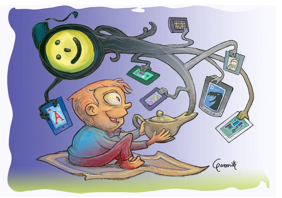 """illustrazione x articolo su NavigareSicuri: """"Happly: il web su iPad per i piccoli"""""""
