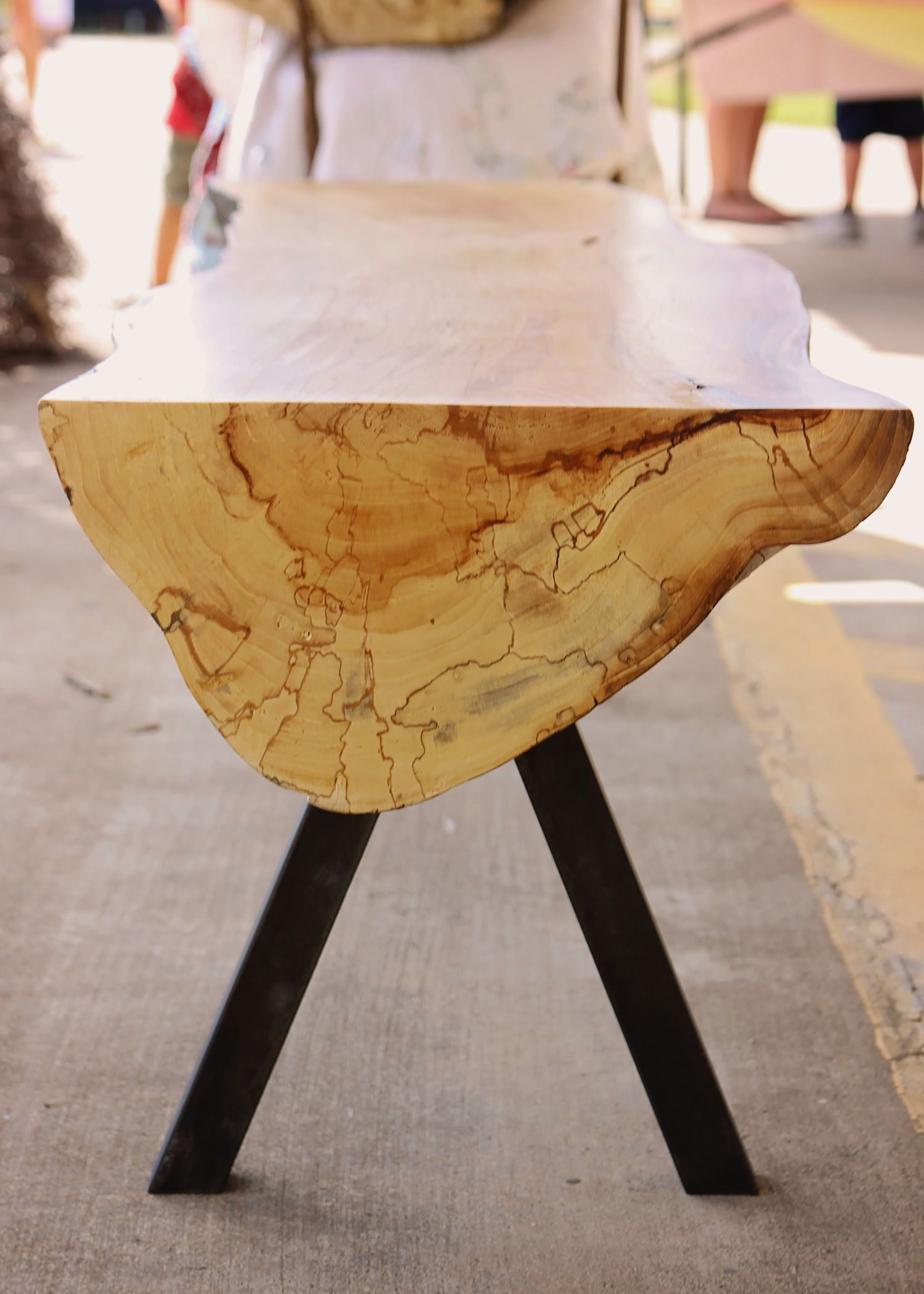 Sycamore Bench From Dead Sycamore Tree Wood Furniture