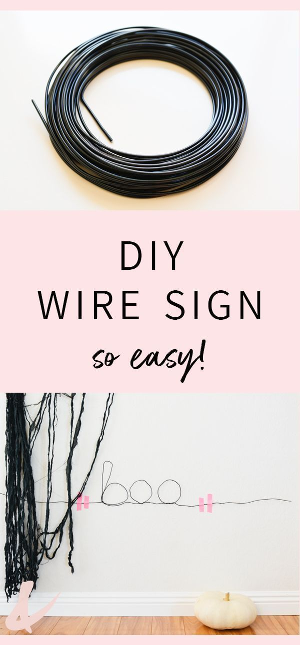Easy Wire Wall Signs for Halloween Do It Yourself Today