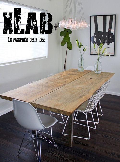 Tavoli Da Pranzo Grandi.Tavolo In Legno Con Gambe In Ferro Patrick Sconto Online Home
