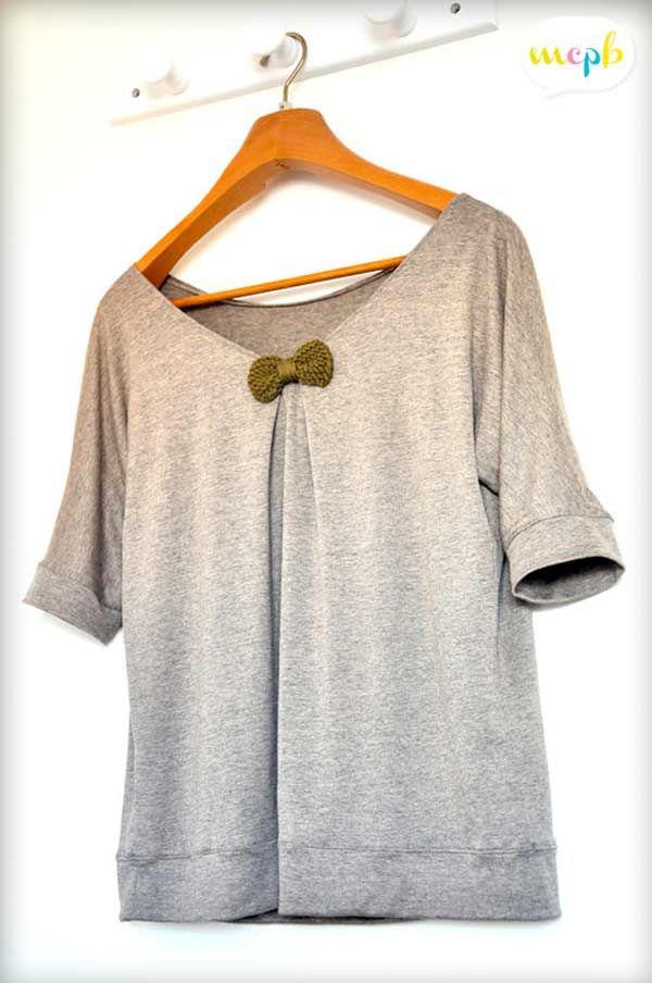 Patron gratuit : le t-shirt loose | Nähen, Oberteile und Schnittmuster