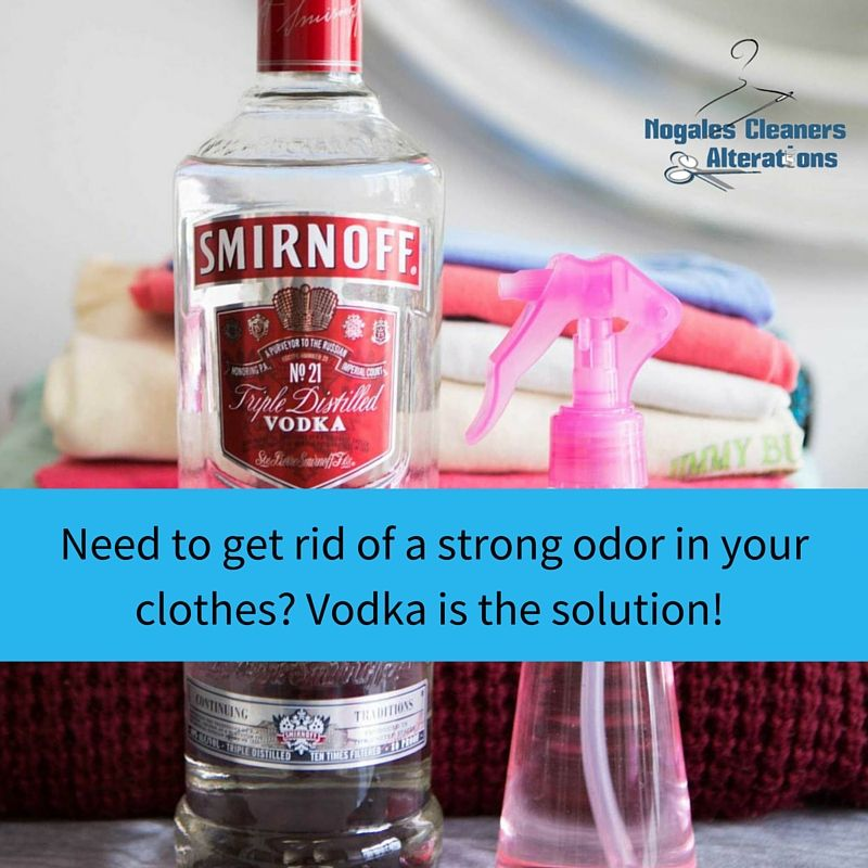 Have a strong, lingering odor in your clothes? Vodka can
