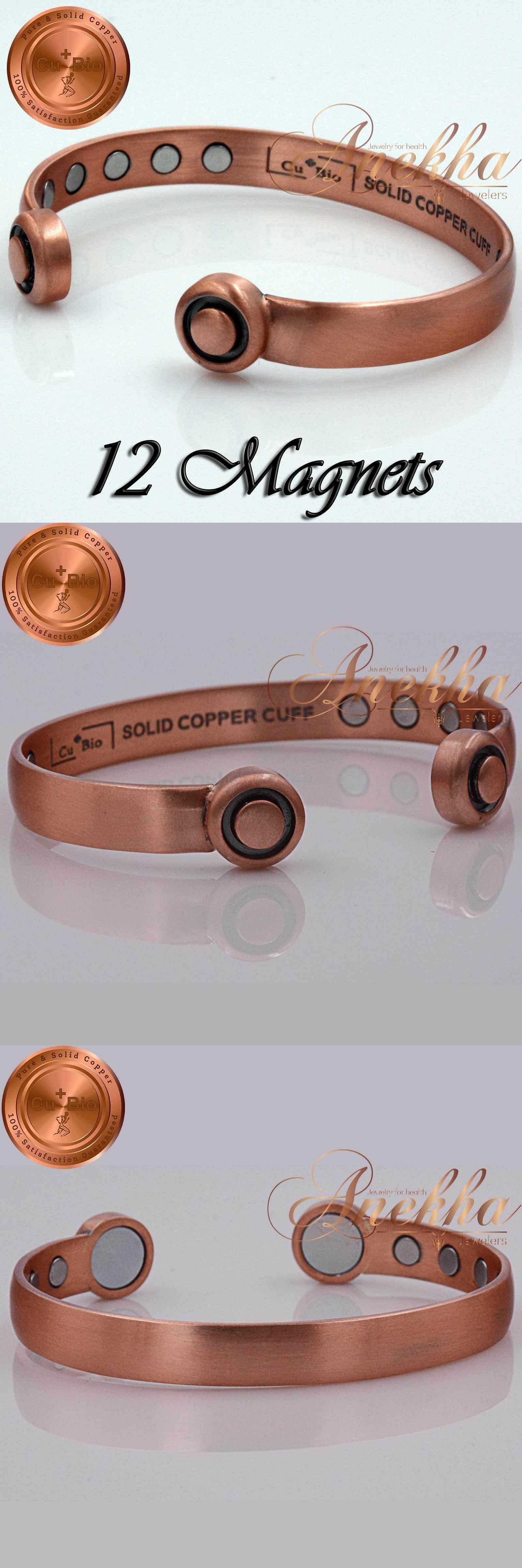Cubio pure copper magnetic braceletbangle men women vtg fin