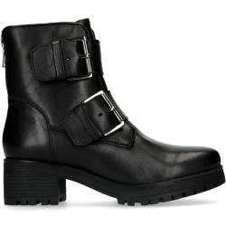 Photo of Black leather biker boots (36,37,38,39,40,41) ManfieldManfield
