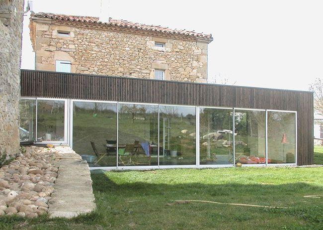 Extension En Acier Et Bois / Maison En Pierre Ancienne (source Otua.org)