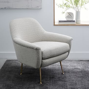 Phoebe Chair Living Room Chairs Modern Comfy Chairs Blue