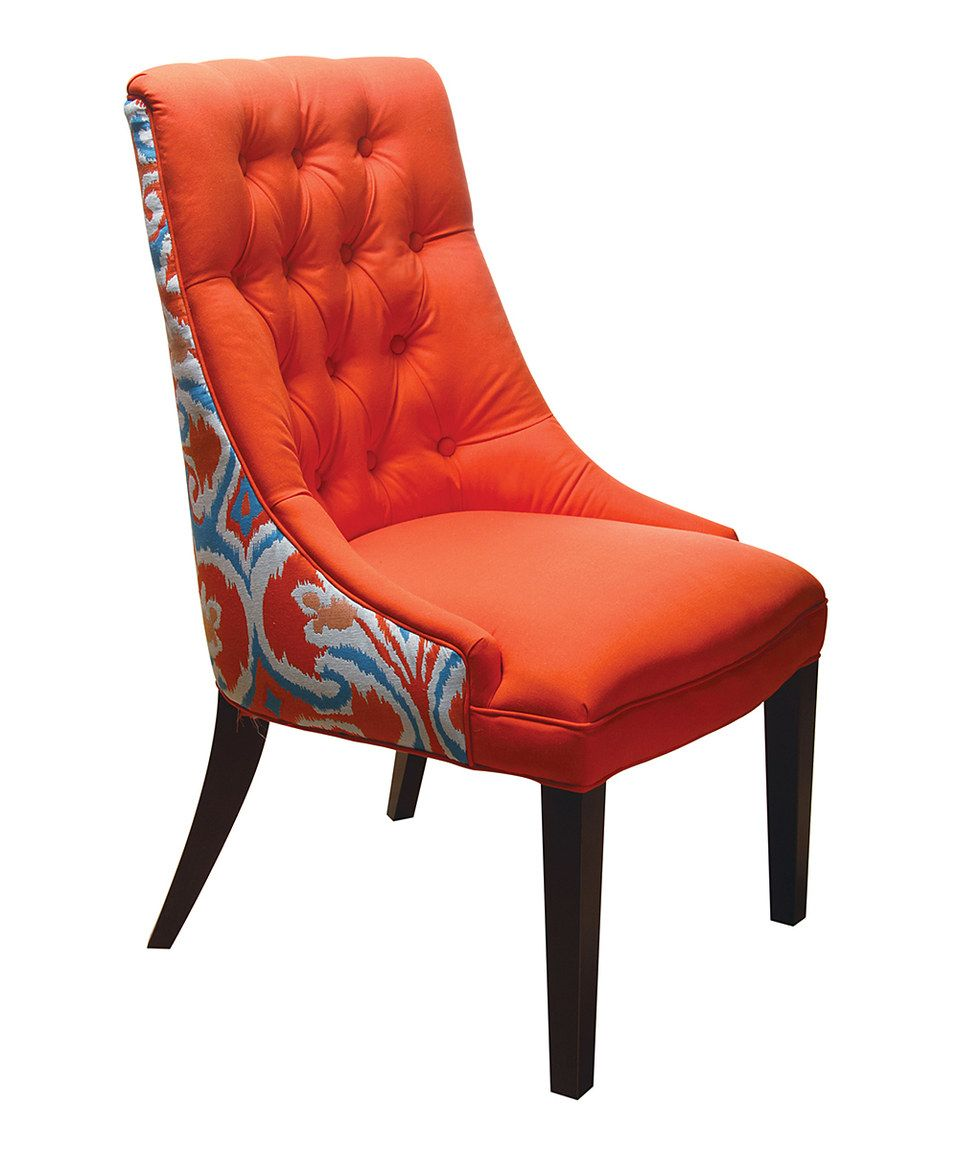 Marvelous Another Great Find On Zulily Orange Ikat Accent Chair By Lamtechconsult Wood Chair Design Ideas Lamtechconsultcom