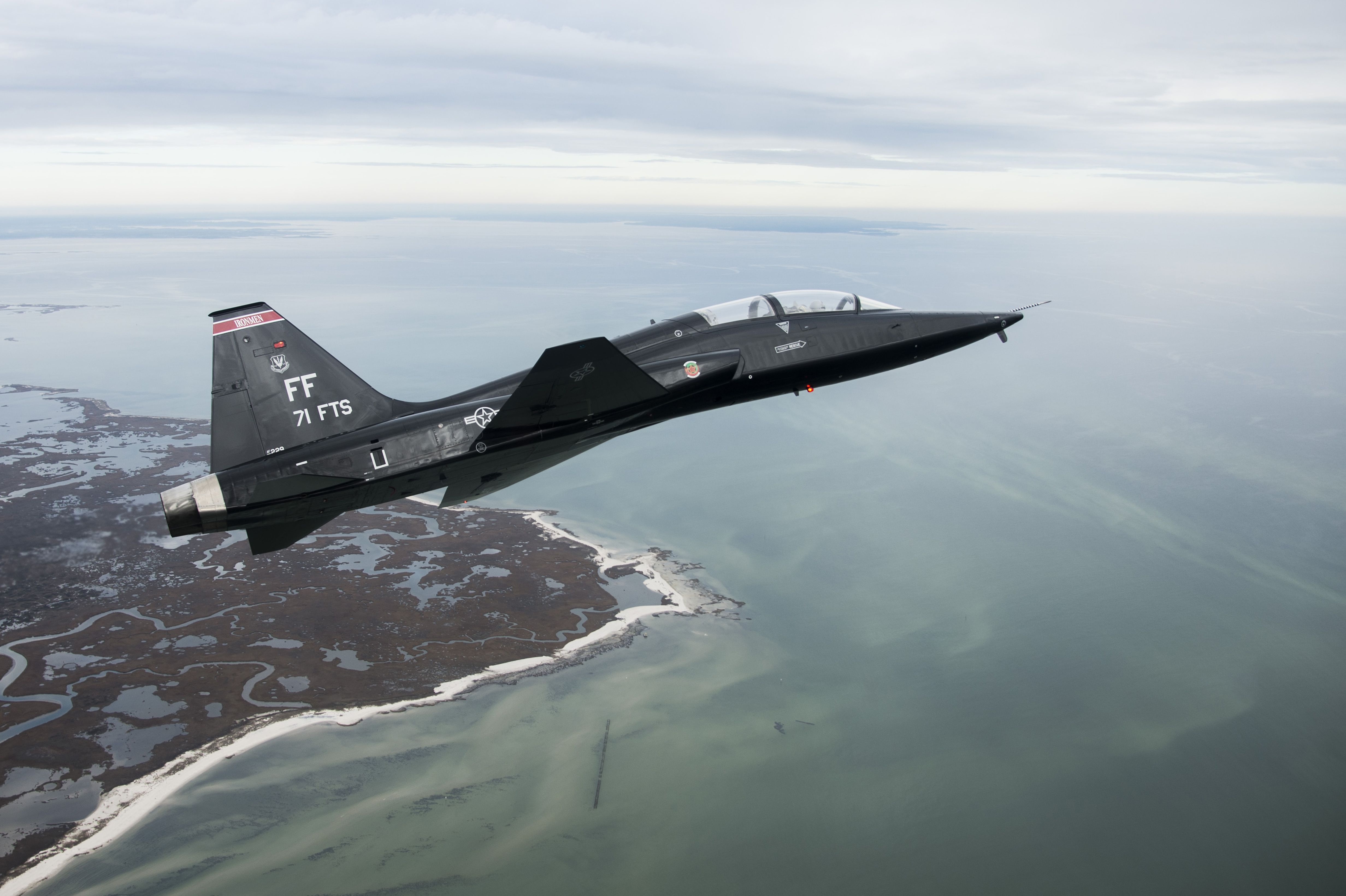 A T 38 Talon Approaches The Atlantic Ocean After Departing From Langley Air Force Base