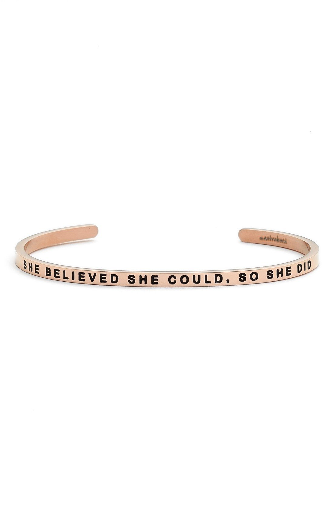 Hope Anchors the Soul Bar She Believed She Could So She Did Engraved Bracelet