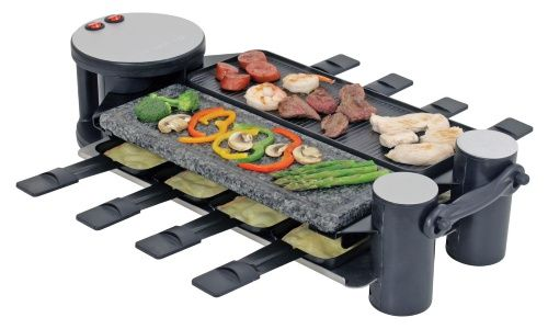 Swivel Raclette 8 Person Party Grill - Raclette Grills at Hayneedle