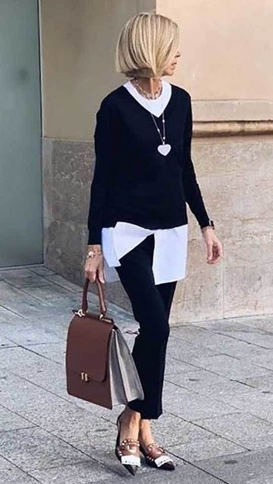 Minimalist And Casual Outfit For 50 Year Old Woman In 2020 Clothes For Women Over 50 Fashion Over 50 Womens Fashion