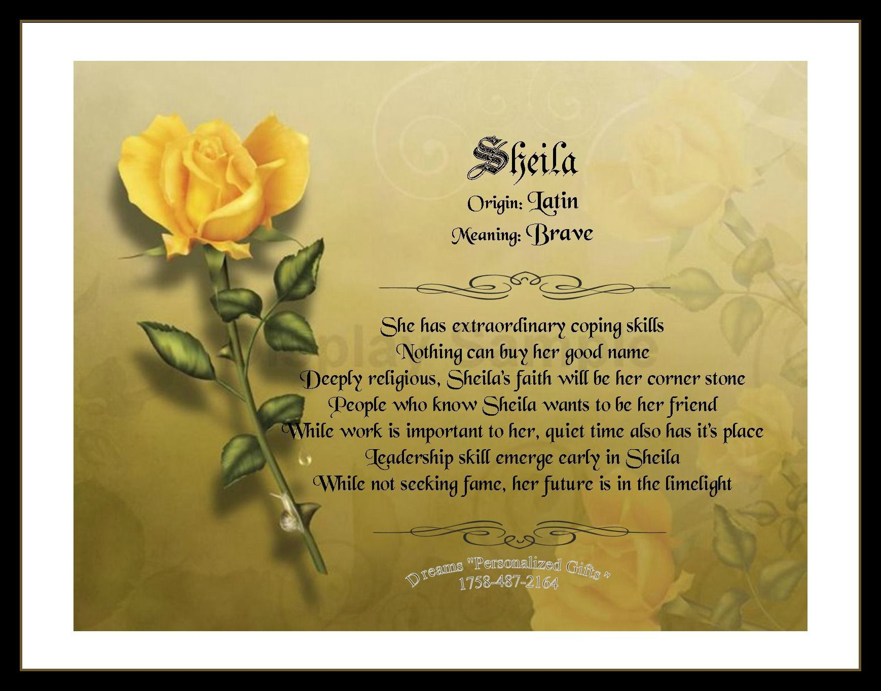 """Sheila from Dreams """"Personalized Gifts"""" 