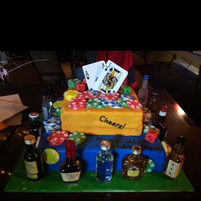 21st Birthday Cake Casino And Alcohol Theme Bakery Pinterest