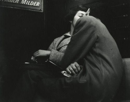 """wolvnudes: """"Arthur Leipzig. Subway Lovers, 1949 """""""
