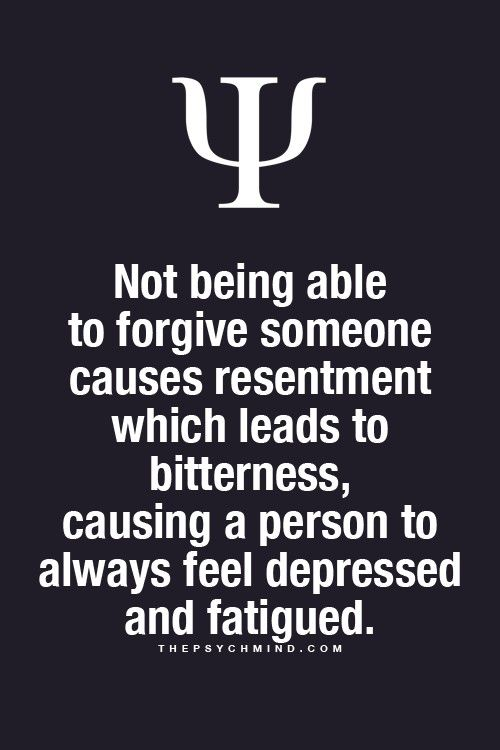 Psychological Fact Forgive And Forget
