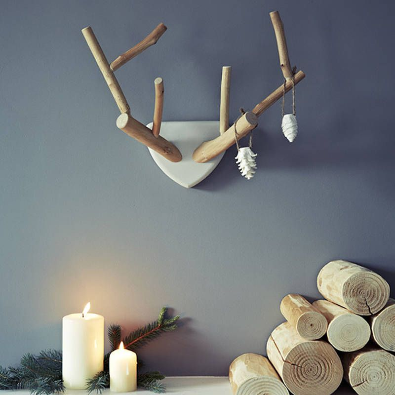 Hand Carved Lime Wood Antlers by Rowen & Wren