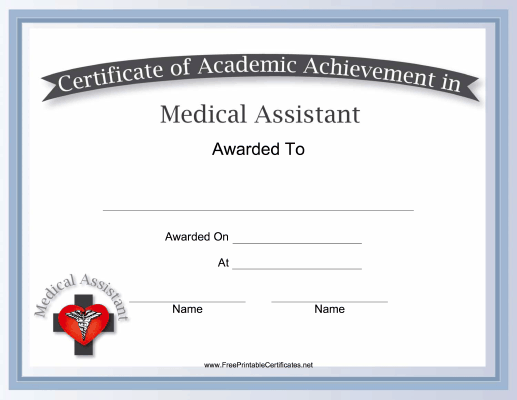 Physician aides can use this free, printable certificate of academic ...