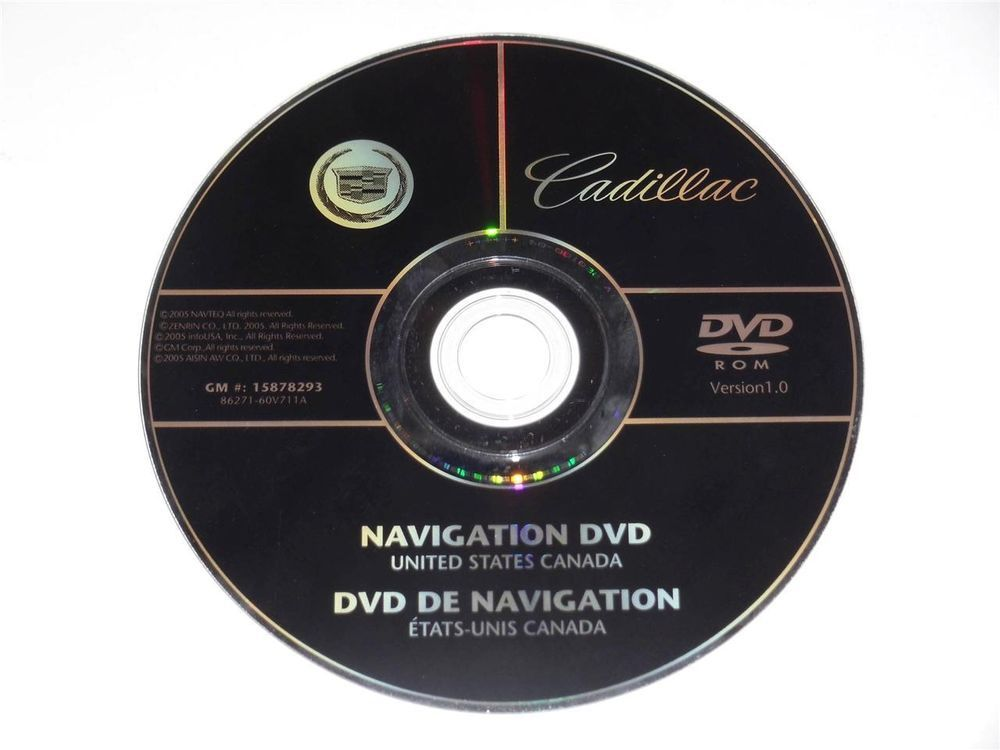 OEM GM Cadillac Navigation DVD North America Map Disc Disk 15878293 ...