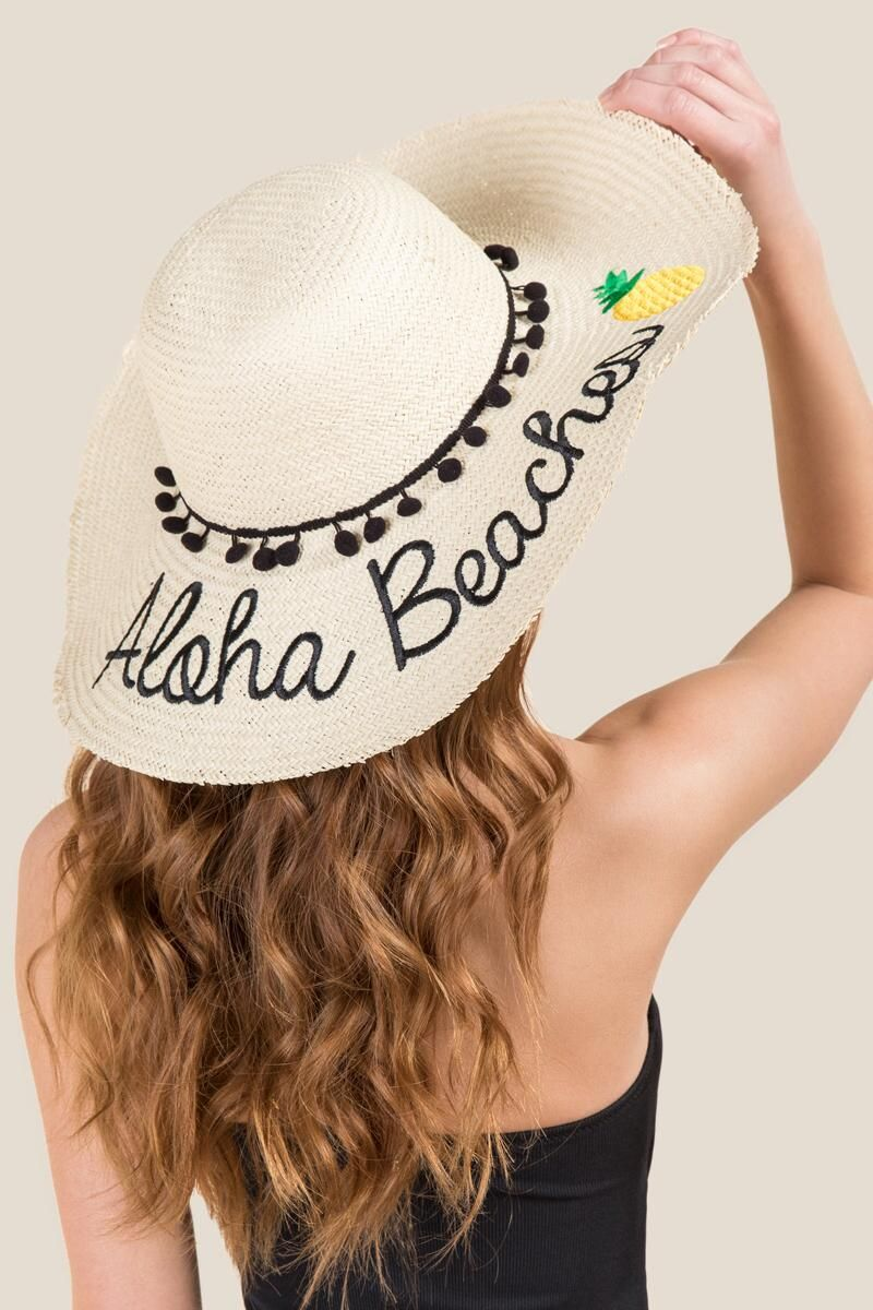 34c9c8ddd1d Aloha Beaches Floppy Hat- Natural model