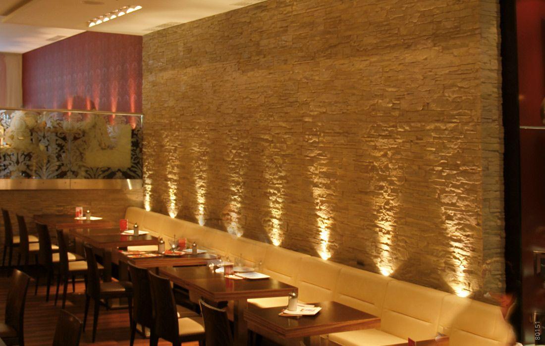restaurant wandgestaltung mit beleuchtung lascas mit. Black Bedroom Furniture Sets. Home Design Ideas
